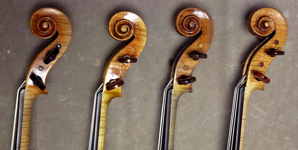 バイオリンのネックの太さの違い