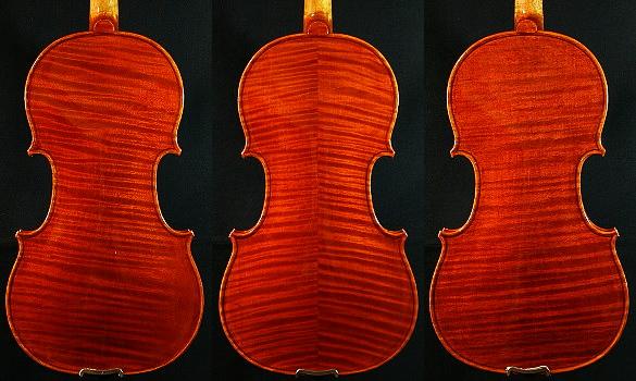 バイオリンの裏板の虎杢