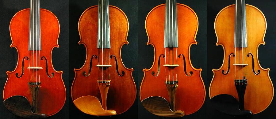 バイオリンの色の違い