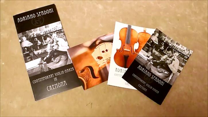 Adriano Spadoni  パンフレットとポストカード