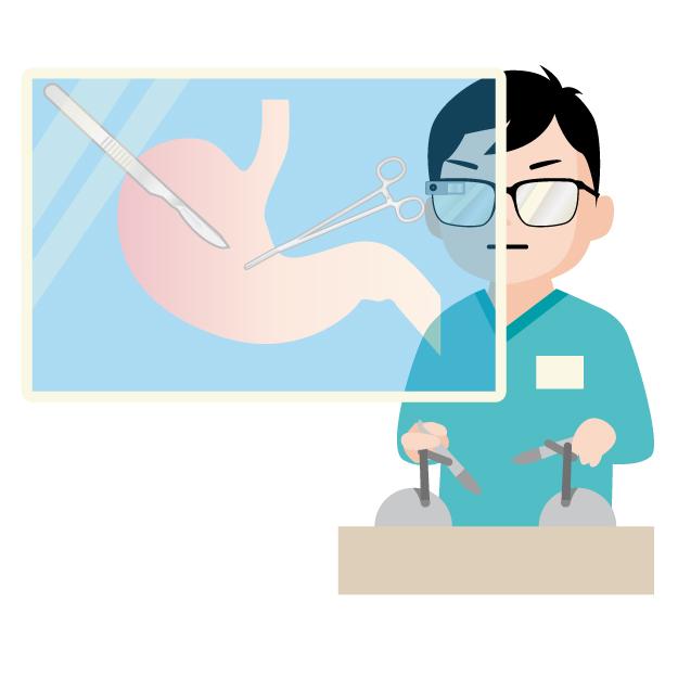 手術のシュミレーションをする外科医